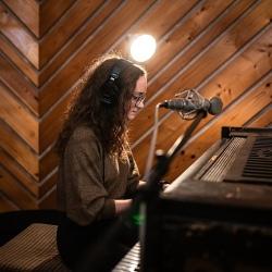Nahrávání v hudebním Studiu V ve Zlíně 19.12.2020